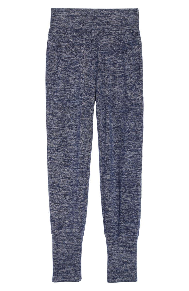 HABITUAL Aubree High Waist Hacci Knit Jogger Pants, Main, color, INDIGO