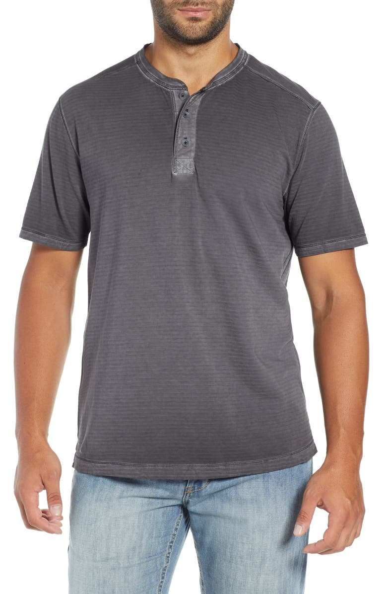 TOMMY BAHAMA Cirrus Coast Classic Fit Henley, Main, color, COAL