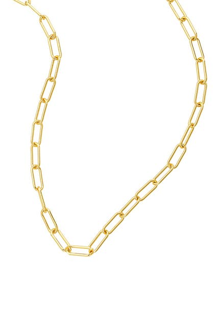 Image of ADORNIA 14K Gold Plated Paper Clip Chain Necklace