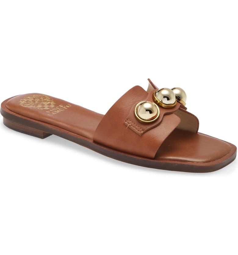 VINCE CAMUTO Neima Slide Sandal, Main, color, BROWN