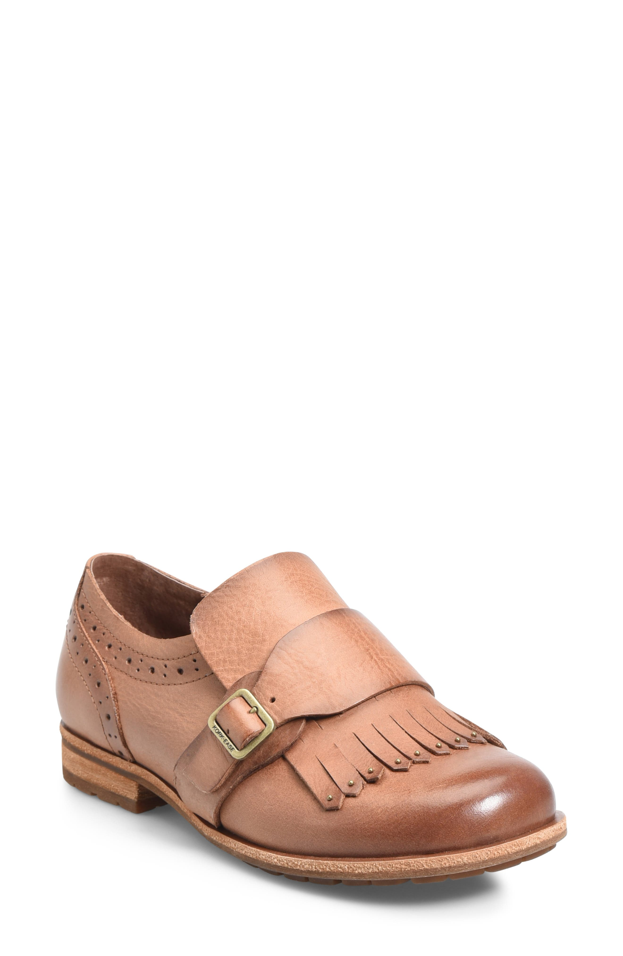 Kork-Ease Bailee Kiltie Monk Strap Shoe, Beige