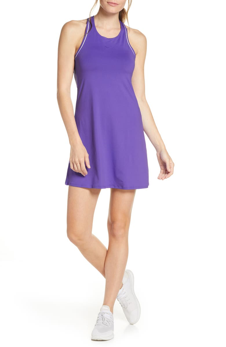 NIKE Court Dry Tennis Dress, Main, color, PSYCHIC PURPLE/ WHITE