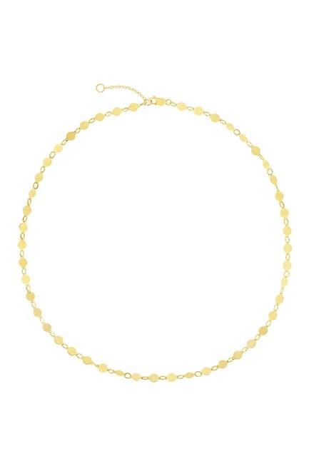 Image of KARAT RUSH 14K Gold Mirror Disc Chain Choker Necklace