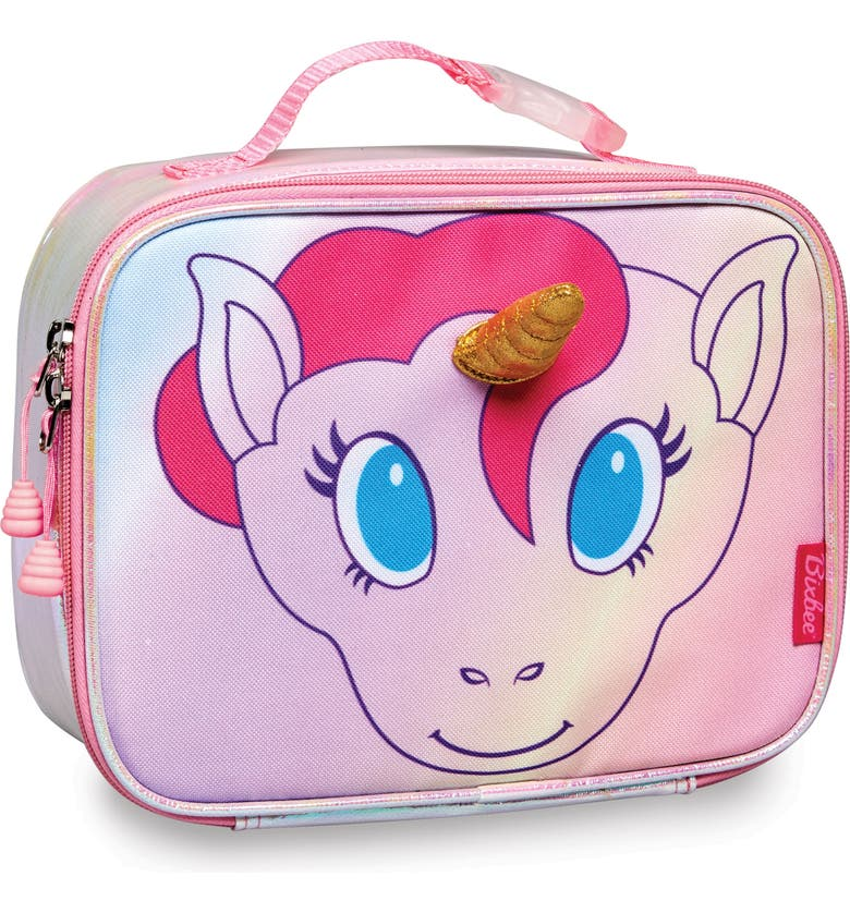 BIXBEE Unicorn Water Resistant Lunchbox, Main, color, GREY