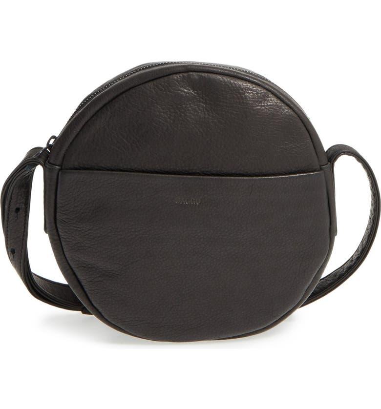 BAGGU Pebbled Leather Crossbody Bag, Main, color, 001
