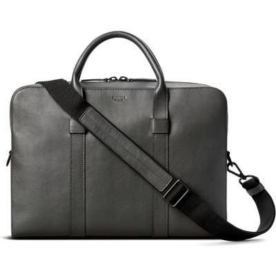 Shinola Guardian Leather Briefcase - Grey