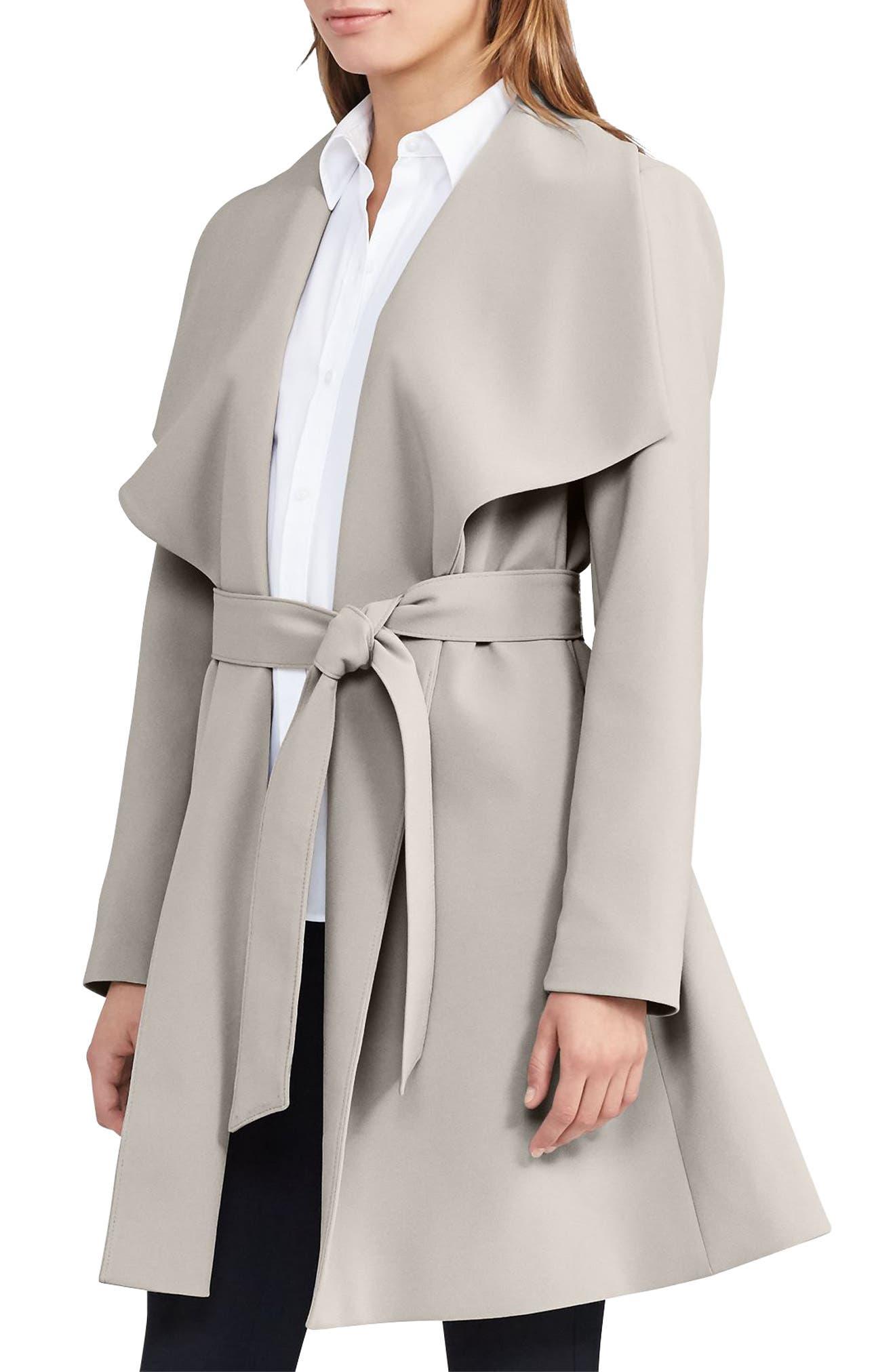 ,                             Belted Drape Front Coat,                             Main thumbnail 21, color,                             279
