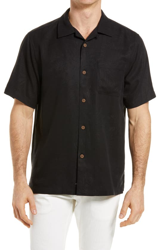 Tommy Bahama TROPIC ISLE SHORT SLEEVE BUTTON-UP SILK CAMP SHIRT