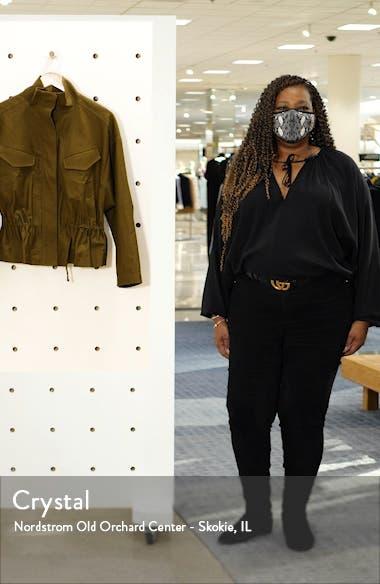 Cinched Waist Linen Blend Jacket, sales video thumbnail