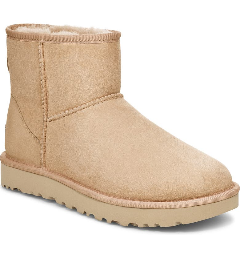UGG<SUP>®</SUP> Classic Mini II Genuine Shearling Lined Boot, Main, color, BRONZER SUEDE