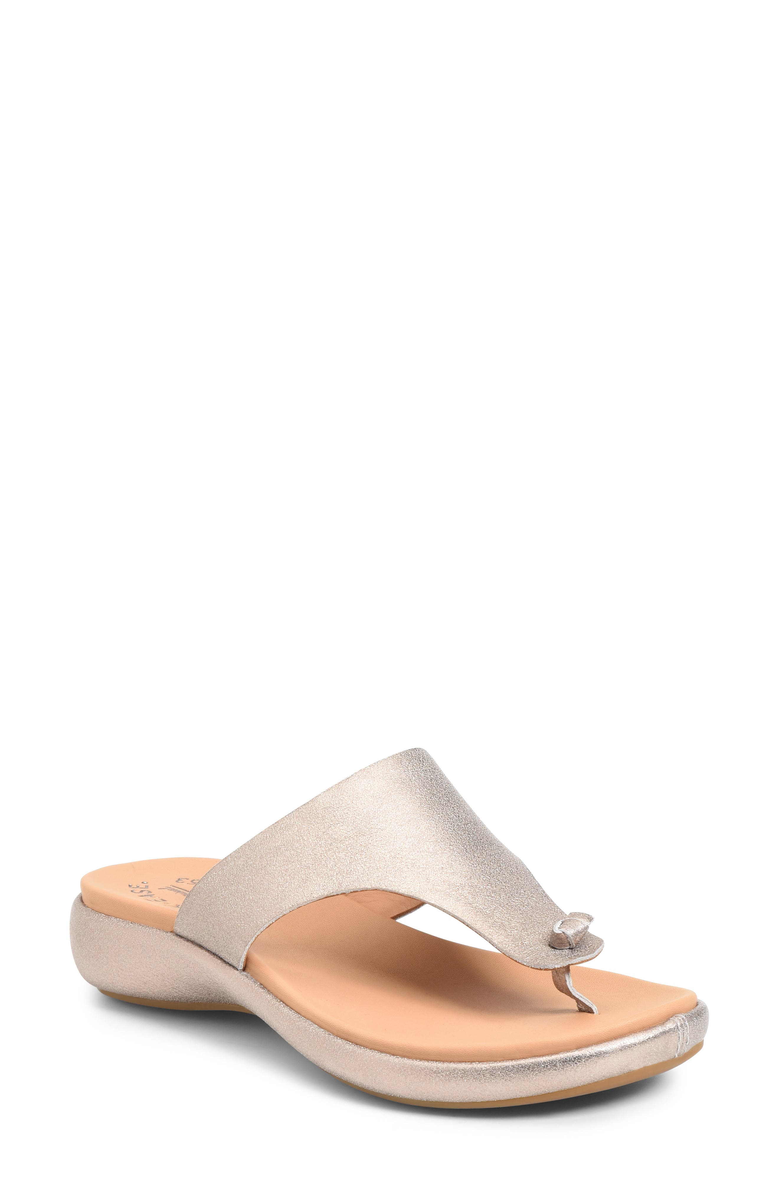 A well-cushioned footbed adds everyday comfort to a burnished leather flip-flop that\\\'s a casual style essential. Style Name: Kork-Ease Lil Flip Flop (Women). Style Number: 6032802. Available in stores.