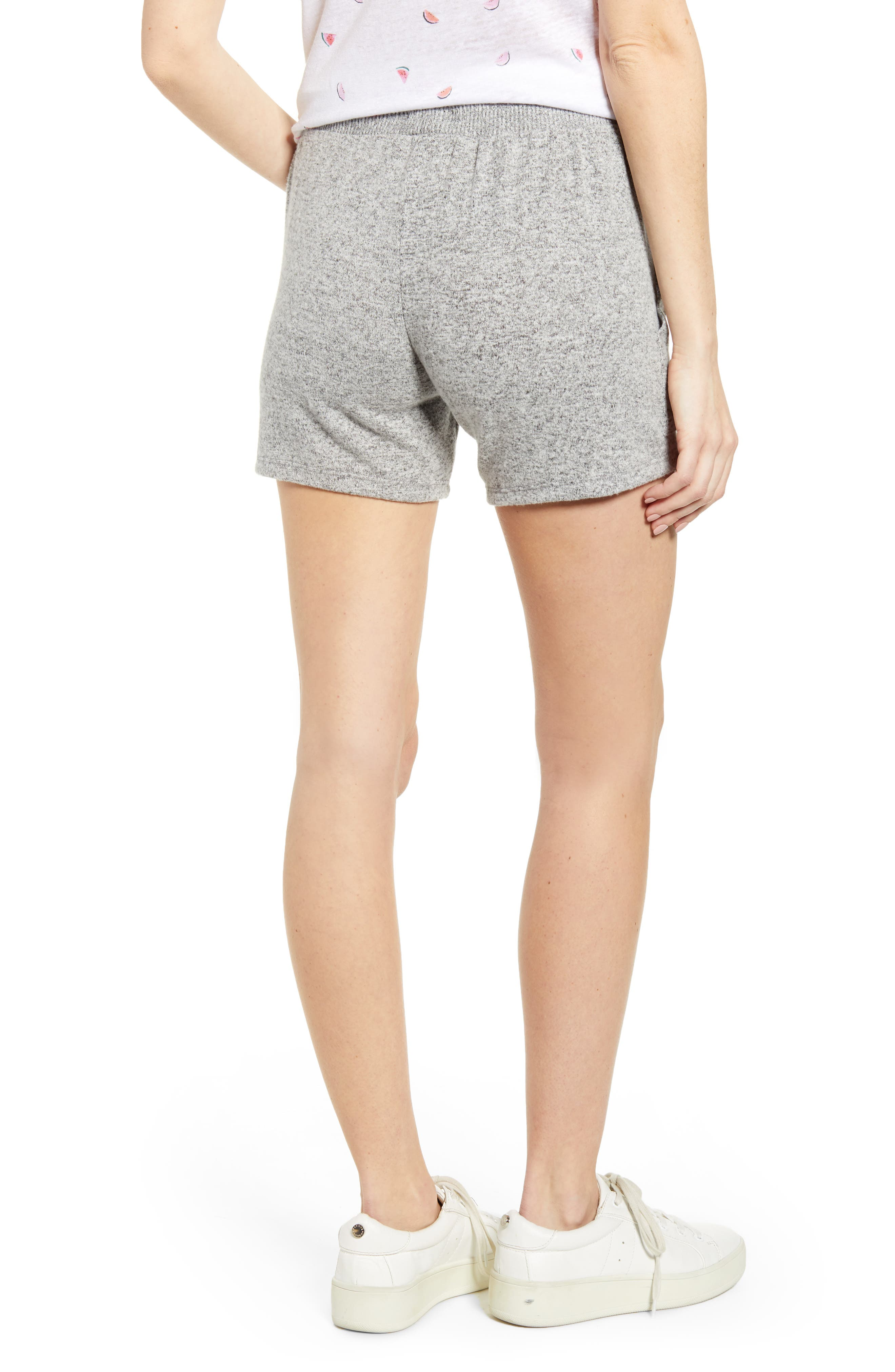 ,                             Robin Drawstring Waist Shorts,                             Alternate thumbnail 2, color,                             MELANGE GREY