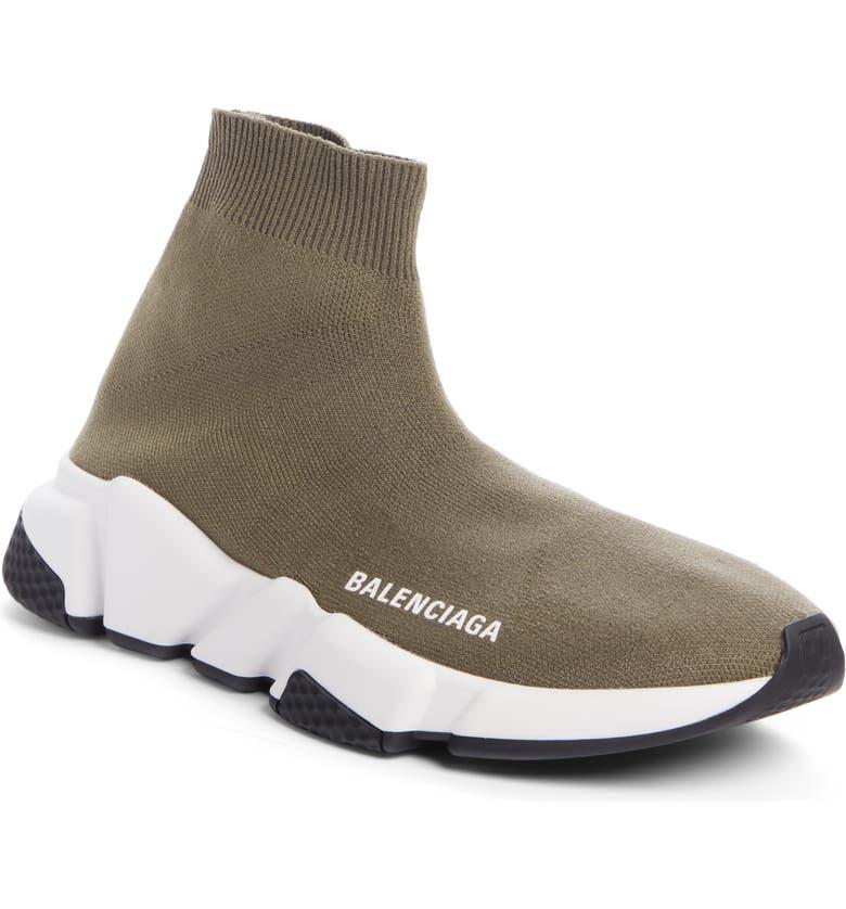 BALENCIAGA Speed Knit Sneaker, Main, color, KHAKI