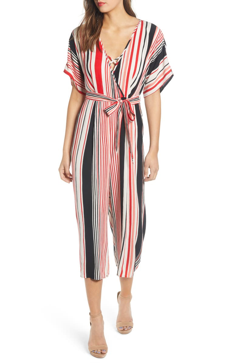 BAND OF GYPSIES Capetown Wide Leg Jumpsuit, Main, color, 001