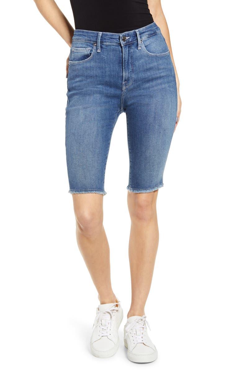 GOOD AMERICAN High Waist Bermuda Shorts, Main, color, 403