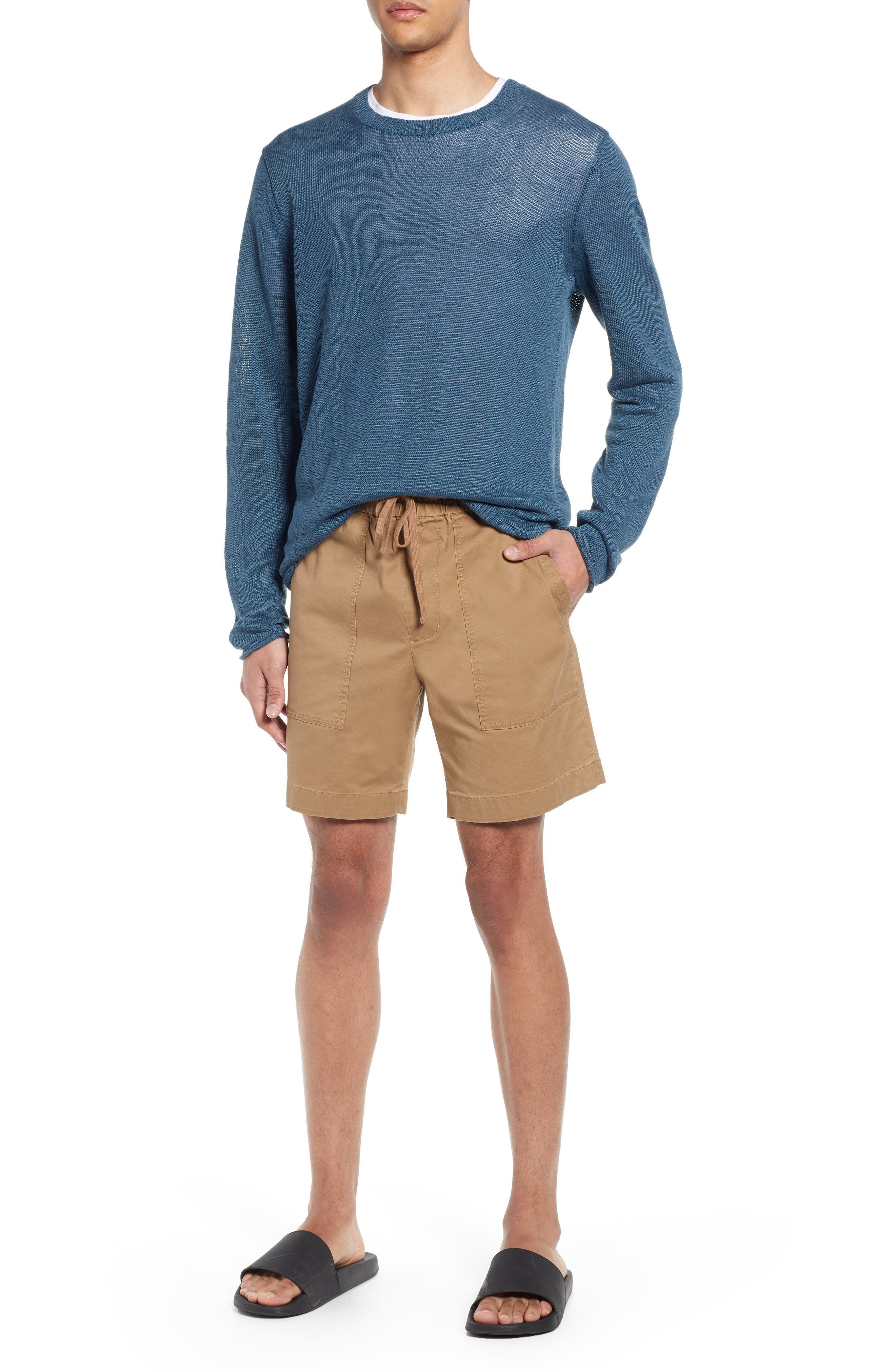 Slim Fit Utility Shorts, Main, color, CAMEL