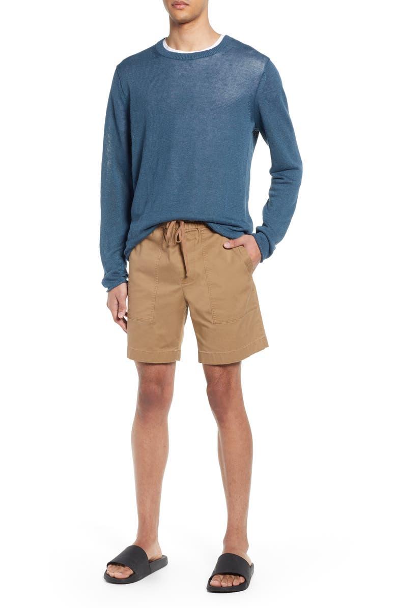 VINCE Slim Fit Utility Shorts, Main, color, CAMEL