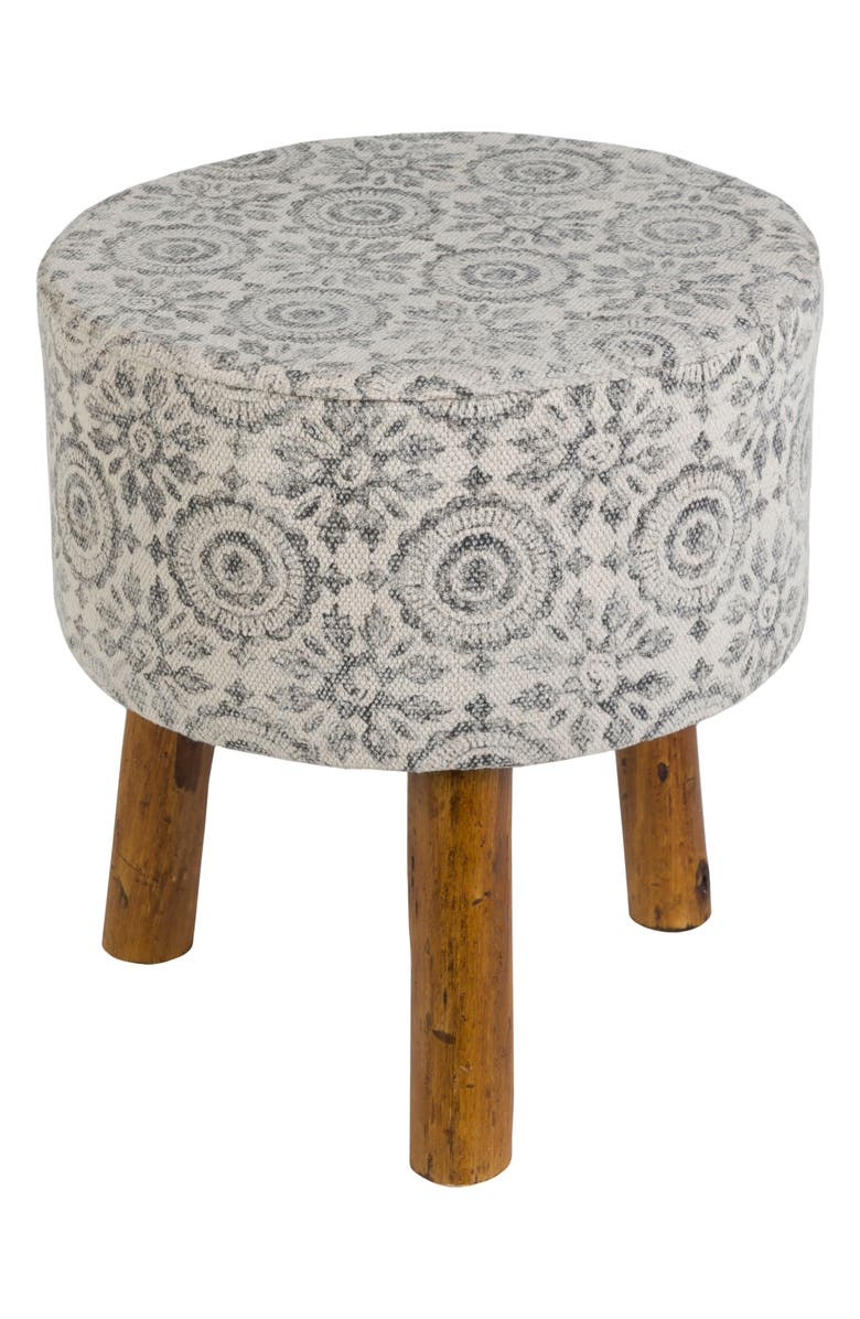 SURYA HOME Tile Stool, Main, color, CHARCOAL