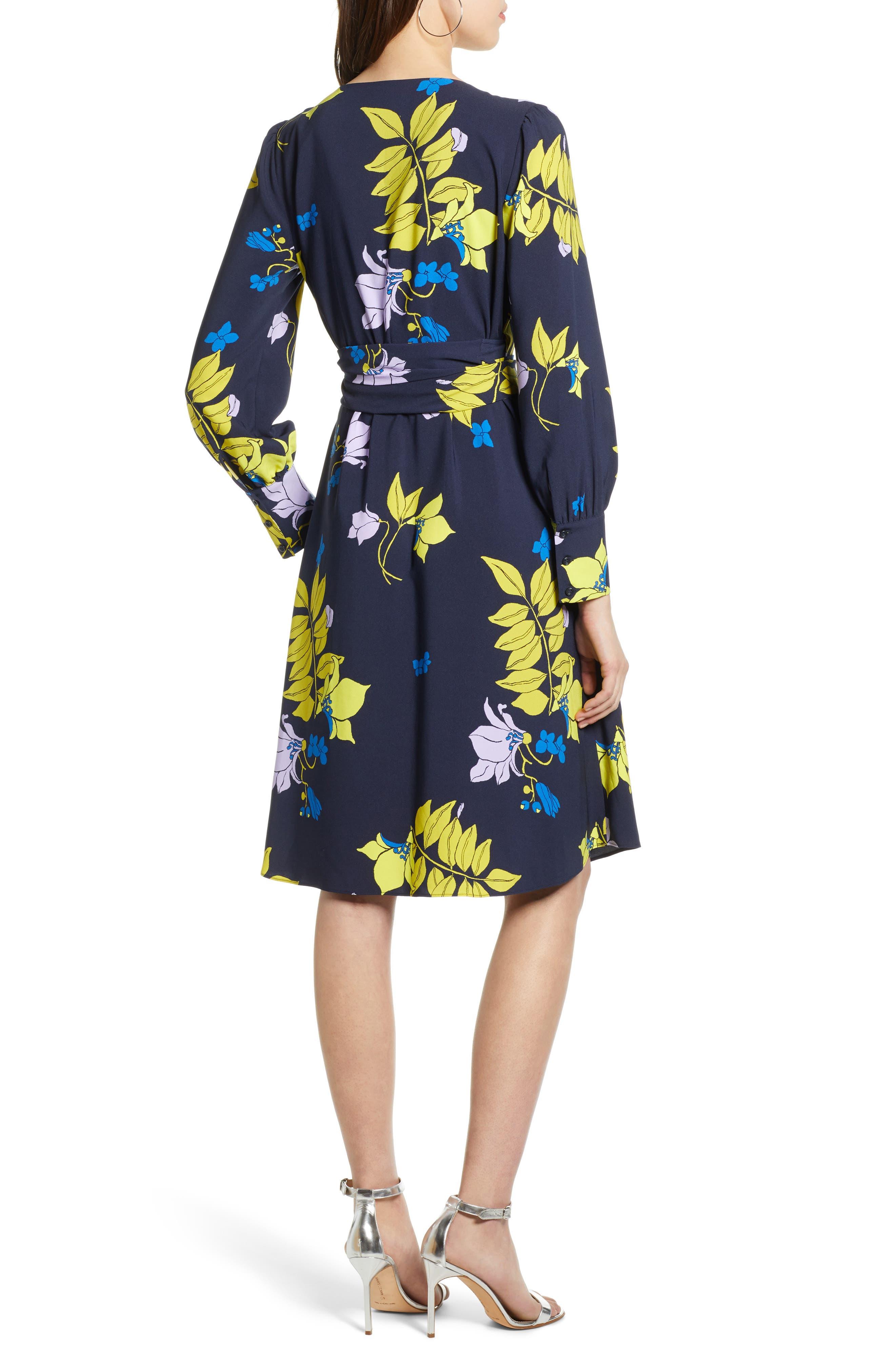 ,                             Wrap Dress,                             Alternate thumbnail 2, color,                             NAVY NATALIE FLORAL