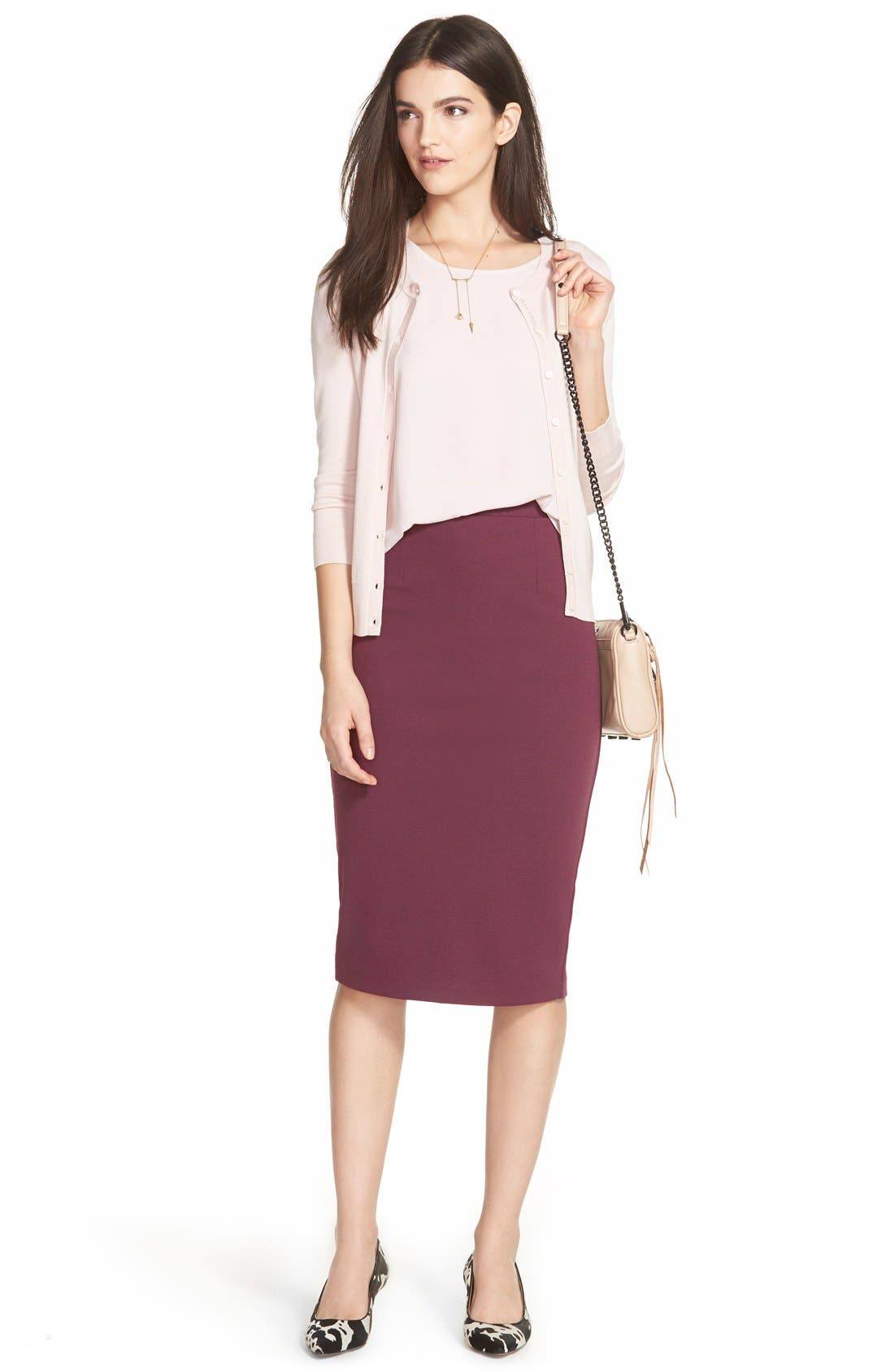 ,                             Zip Back Knit Pencil Skirt,                             Alternate thumbnail 26, color,                             930