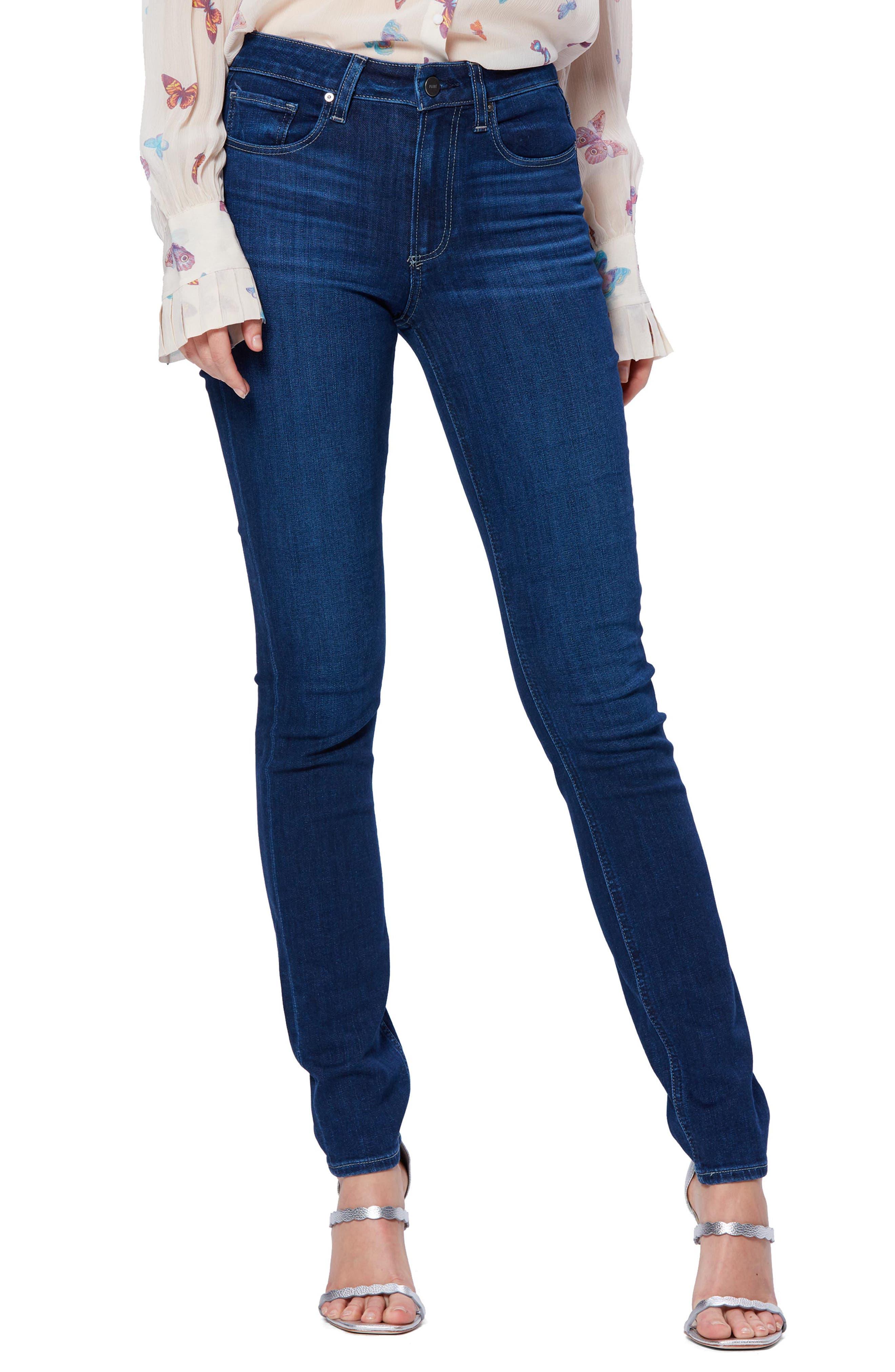 Women's Paige Transcend Vintage - Hoxton High Waist Skinny Jeans,  25 - Blue