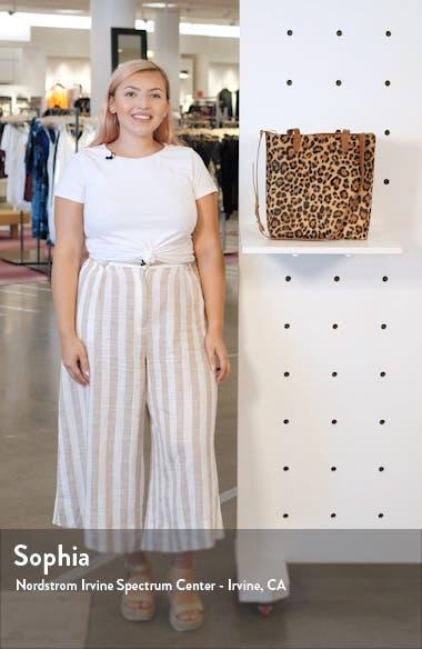 Leopard Genuine Calf Hair Medium Transport Tote, sales video thumbnail