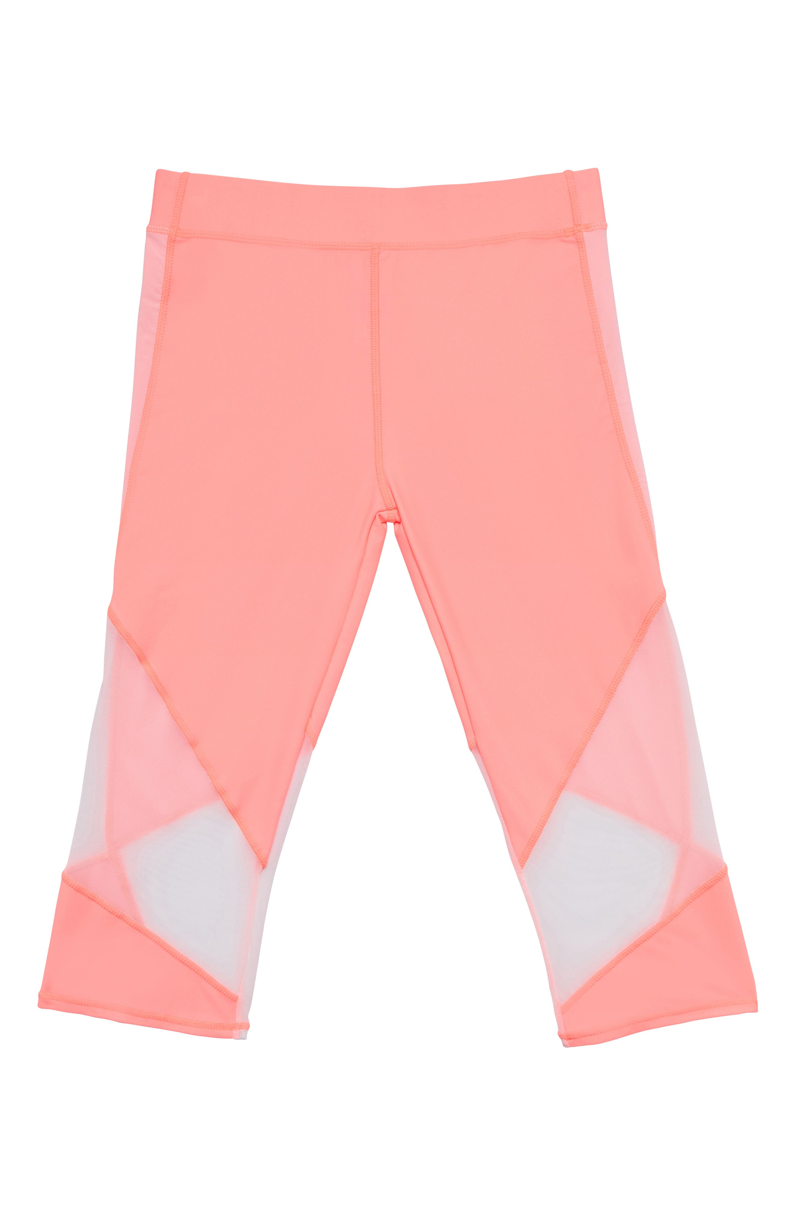 Summer Mesh Trim Cover-Up Pants, Main, color, ELECTRIC FLAMINGLE