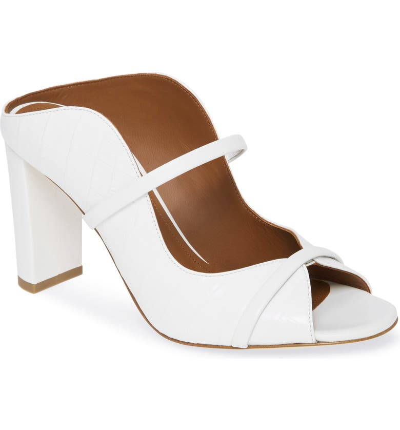 MALONE SOULIERS Norah Block Heel Sandal, Main, color, WHITE
