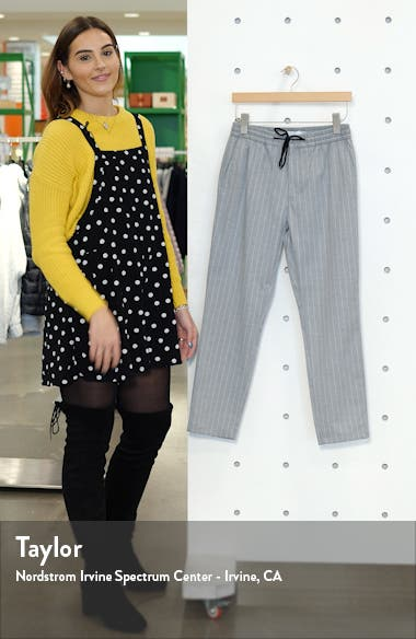 Whyatt Stripe Skinny Fit Ankle Trousers, sales video thumbnail