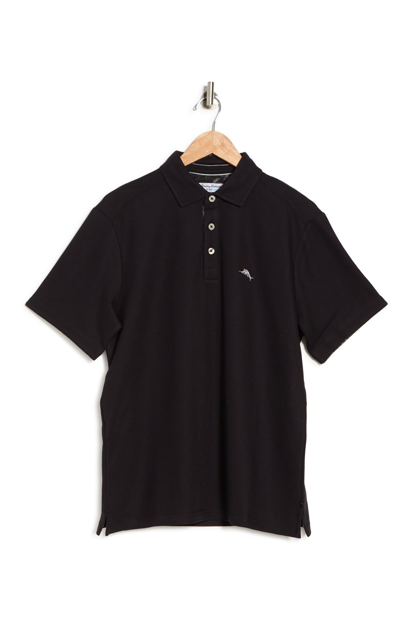 Tommy Bahama Men's Big & Tall Limited Edition 5 O'clock Classic-fit Islandzone Moisture-wicking Pique Polo Shirt In Black
