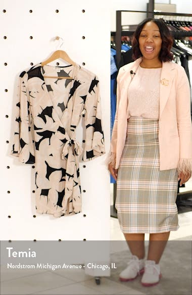 Divine Day Wrap Minidress, sales video thumbnail