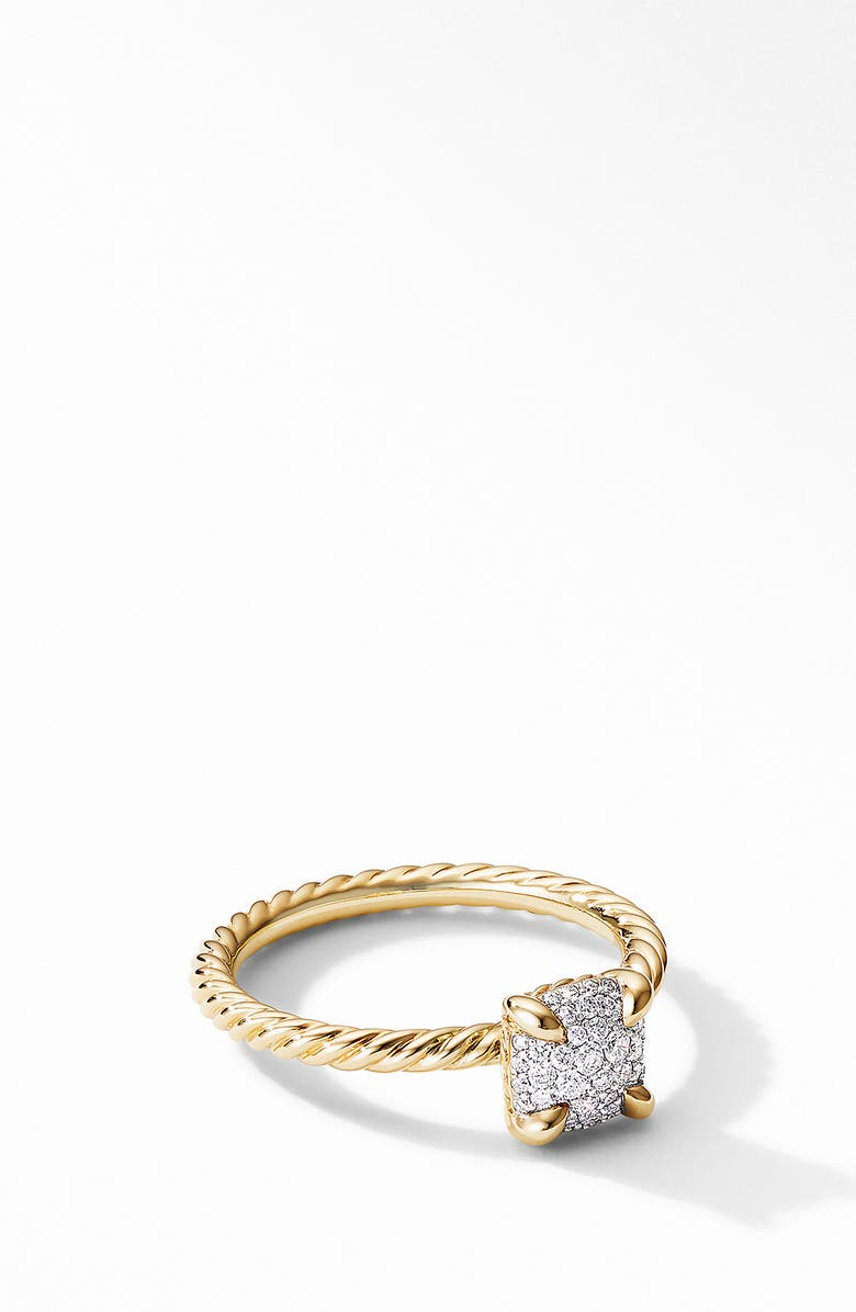 DAVID YURMAN Chatelaine<sup>®</sup> Ring in 18K Gold with Pavé Diamonds, Main, color, 710