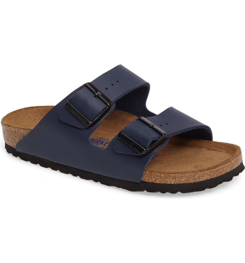 BIRKENSTOCK 'Arizona Birko-Flor' Soft Footbed Sandal, Main, color, NAVY