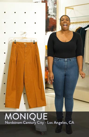 High Waist Crop Wide Leg Pants, sales video thumbnail