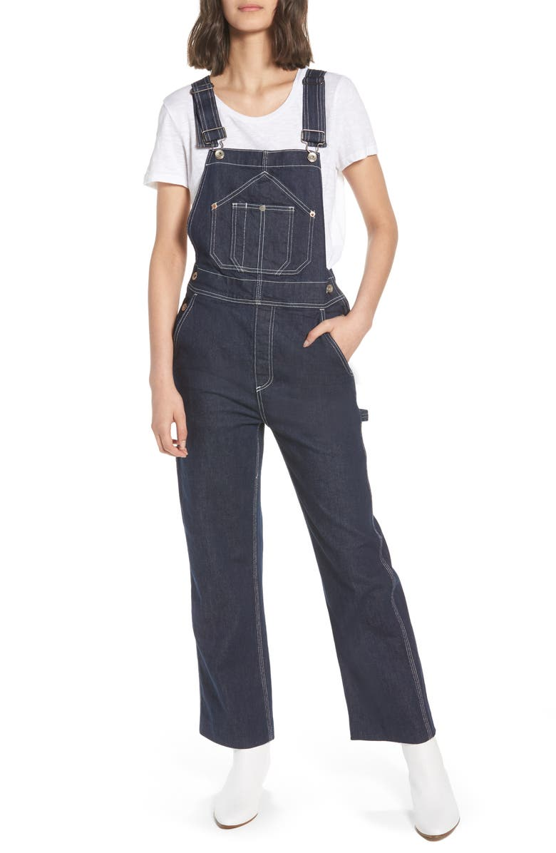 Patched Dungaree Overalls
