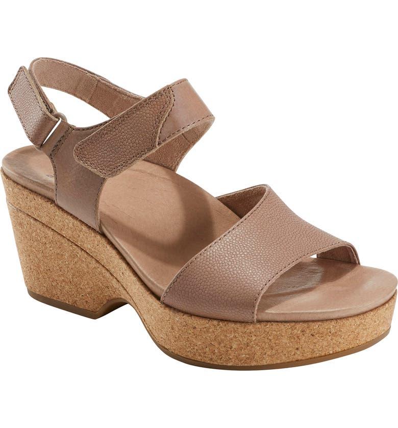 EARTH<SUP>®</SUP> Kella Platform Sandal, Main, color, TAUPE LEATHER
