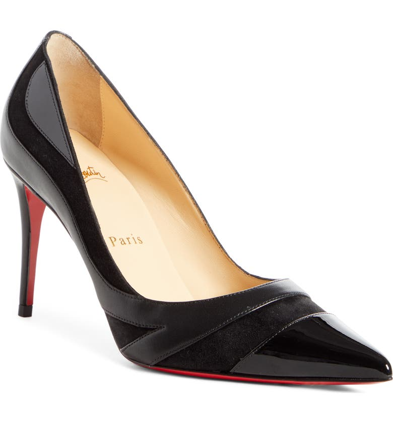 CHRISTIAN LOUBOUTIN Youlahop Pointy Toe Pump, Main, color, 001