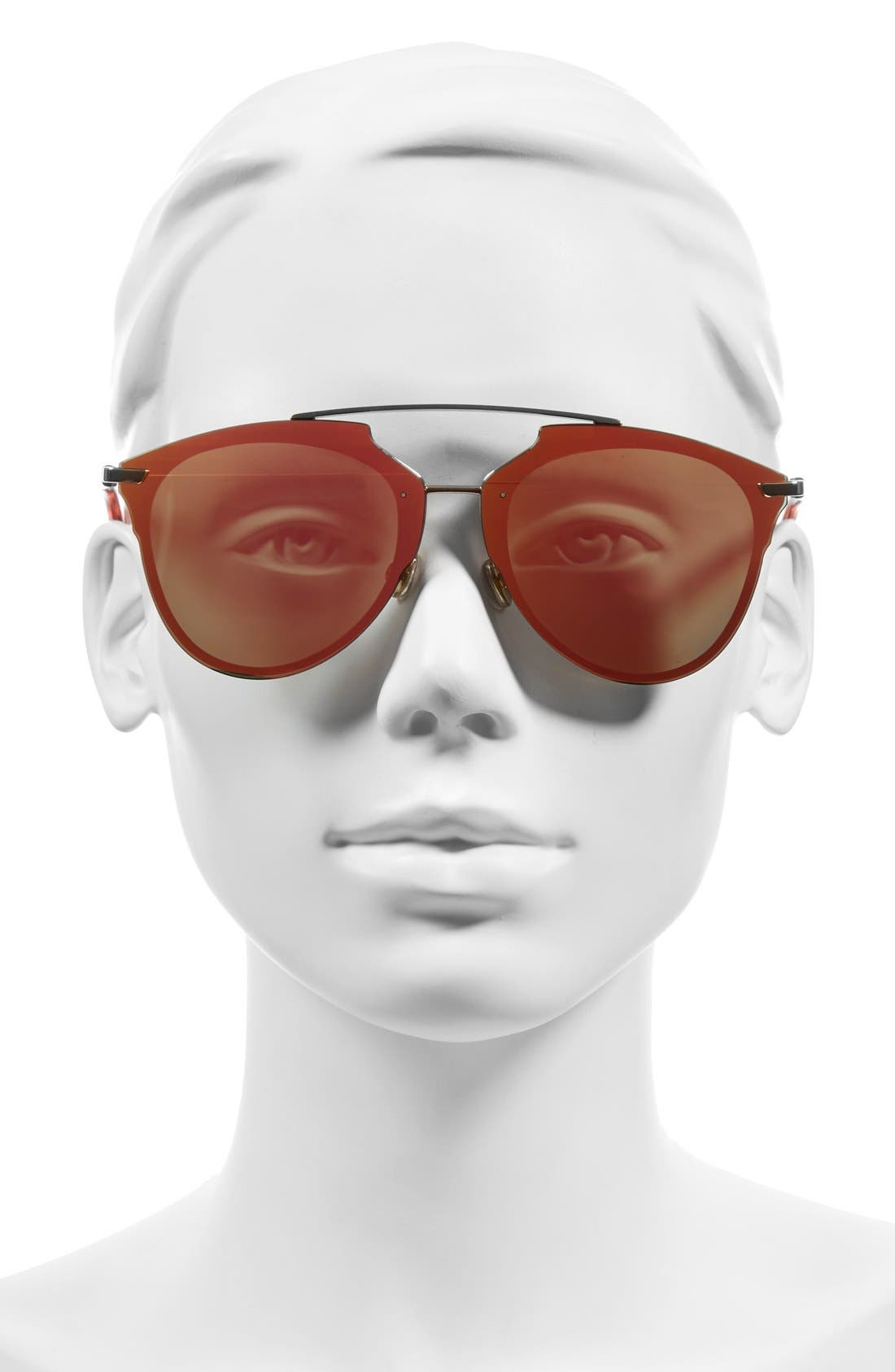 ,                             Reflected Prism 63mm Oversize Mirrored Brow Bar Sunglasses,                             Alternate thumbnail 19, color,                             600