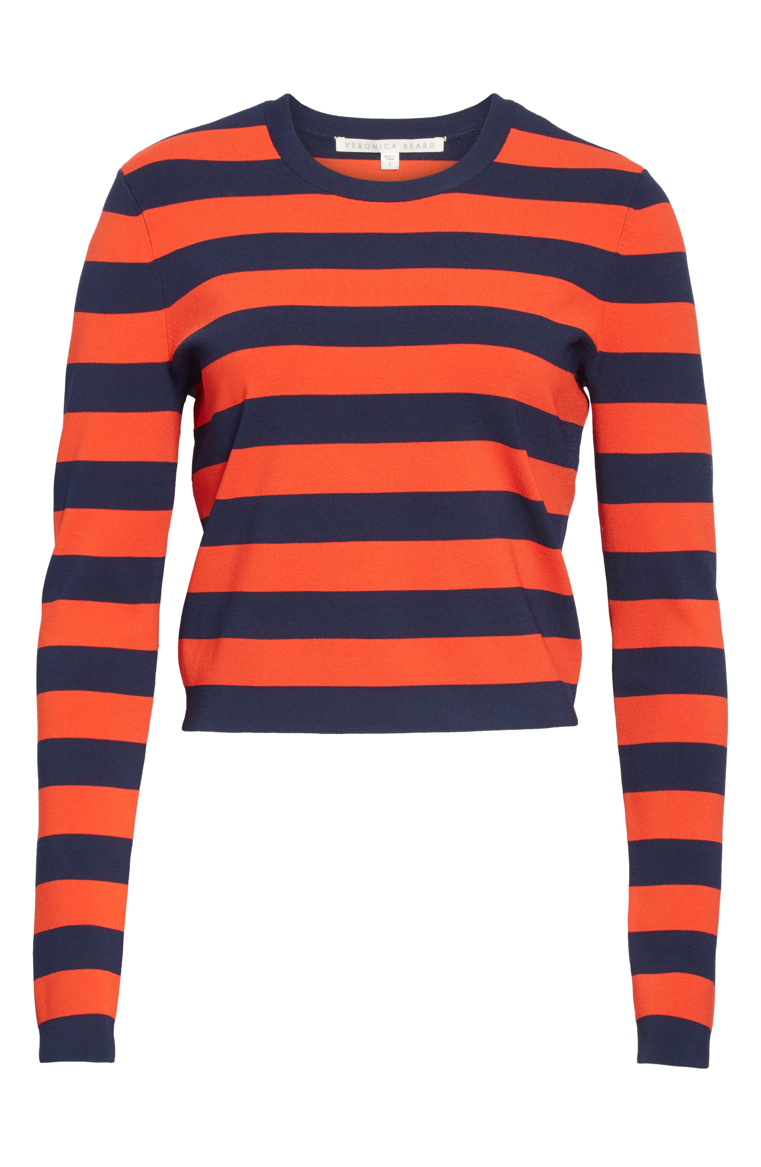 ,                             Broome Stripe Sweater,                             Alternate thumbnail 6, color,                             RED MULTI