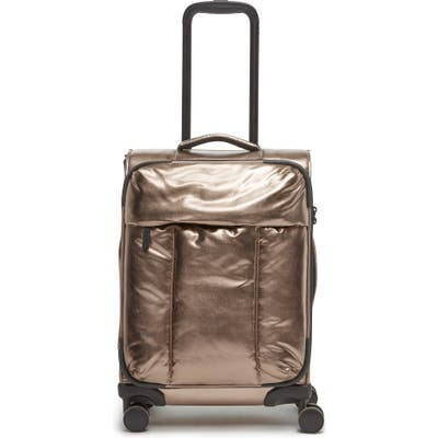 Calpak 21-Inch Soft Side Spinner Carry-On Suitcase - Metallic