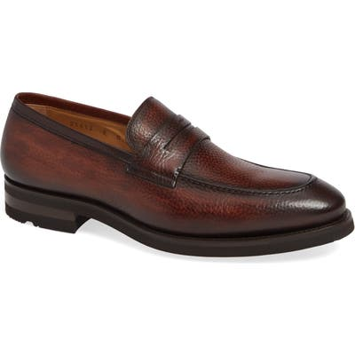 Magnanni Matlin Apron Toe Penny Loafer, Brown
