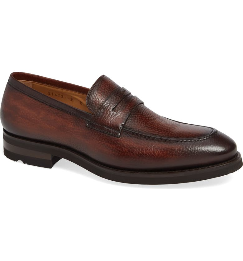 MAGNANNI Matlin Apron Toe Penny Loafer, Main, color, 230