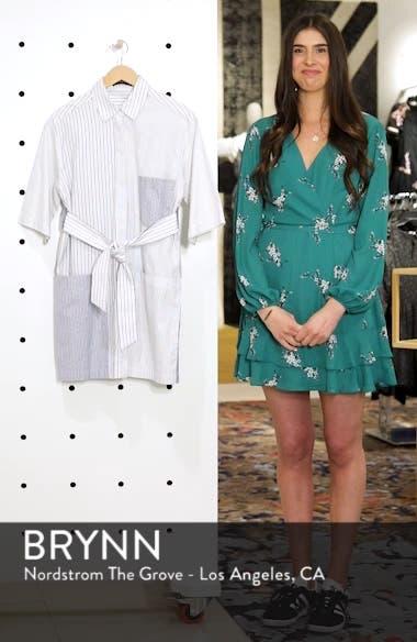 Leon Multi Stripe Cotton Shirt Dress, sales video thumbnail