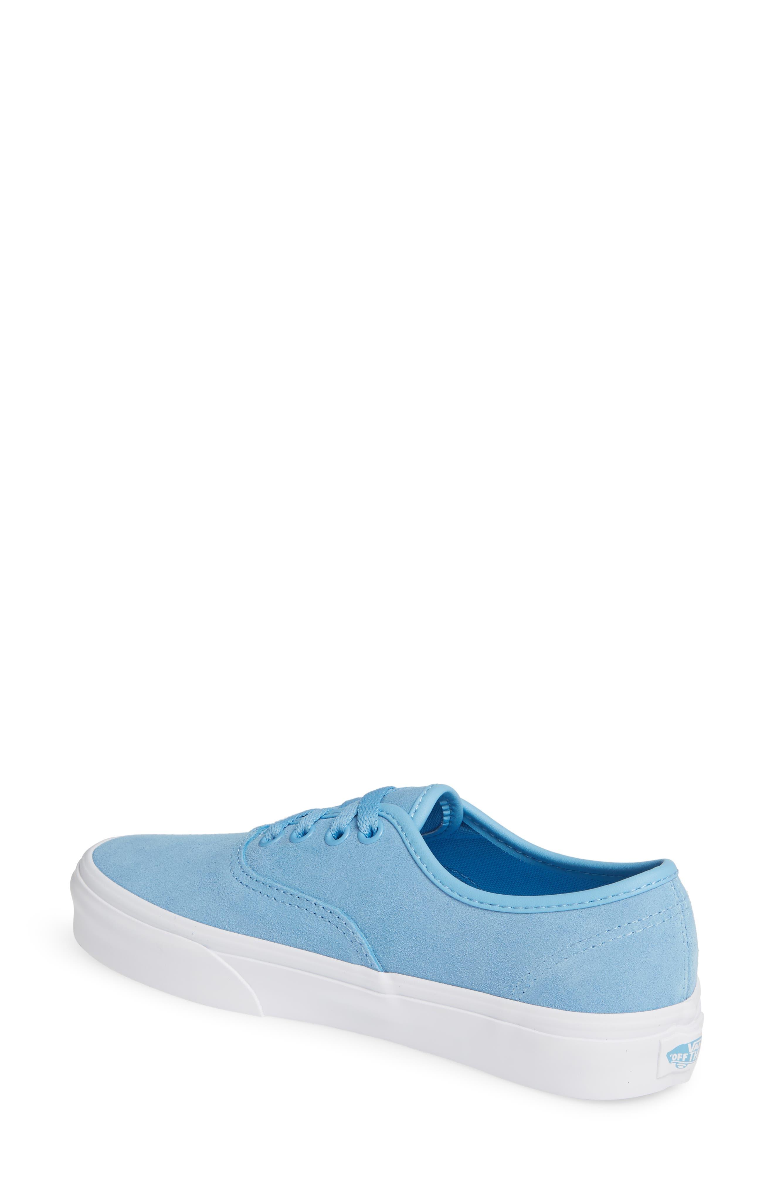 ,                             Authentic Soft Suede Sneaker,                             Alternate thumbnail 2, color,                             ALASKAN BLUE/ TRUE WHITE