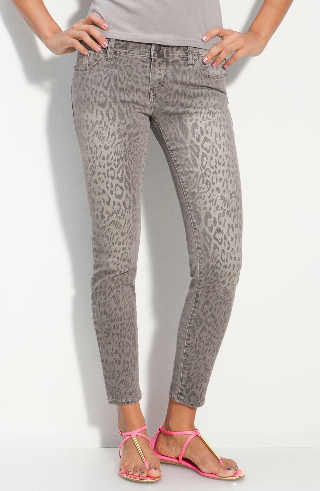 ,                             Animal Print Skinny Jeans,                             Alternate thumbnail 2, color,                             020