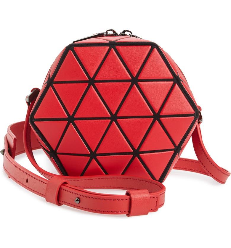 BAO BAO ISSEY MIYAKE Stack Crossbody Bag, Main, color, RED