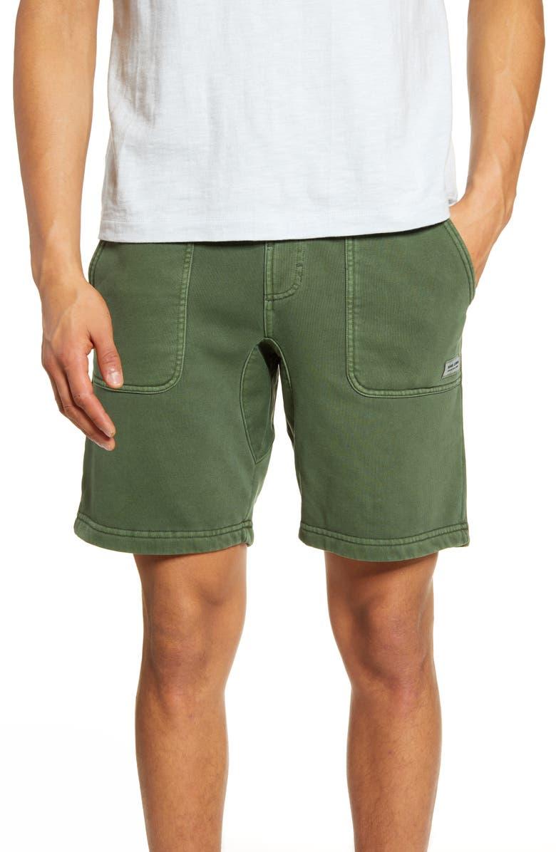 BANKS JOURNAL Big Bear Drawstring Fleece Walk Shorts, Main, color, GRM- GREEN MARINE