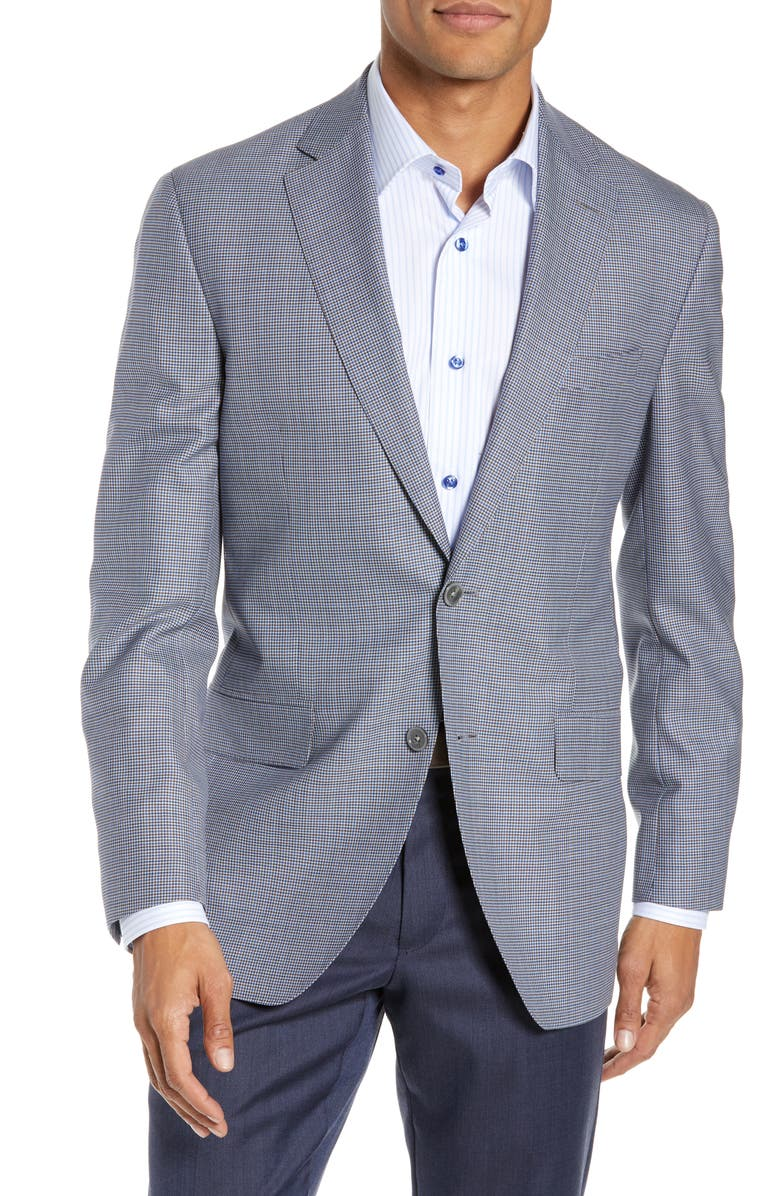 DAVID DONAHUE Arnold Classic Fit Houndstooth Wool Sport Coat, Main, color, 400