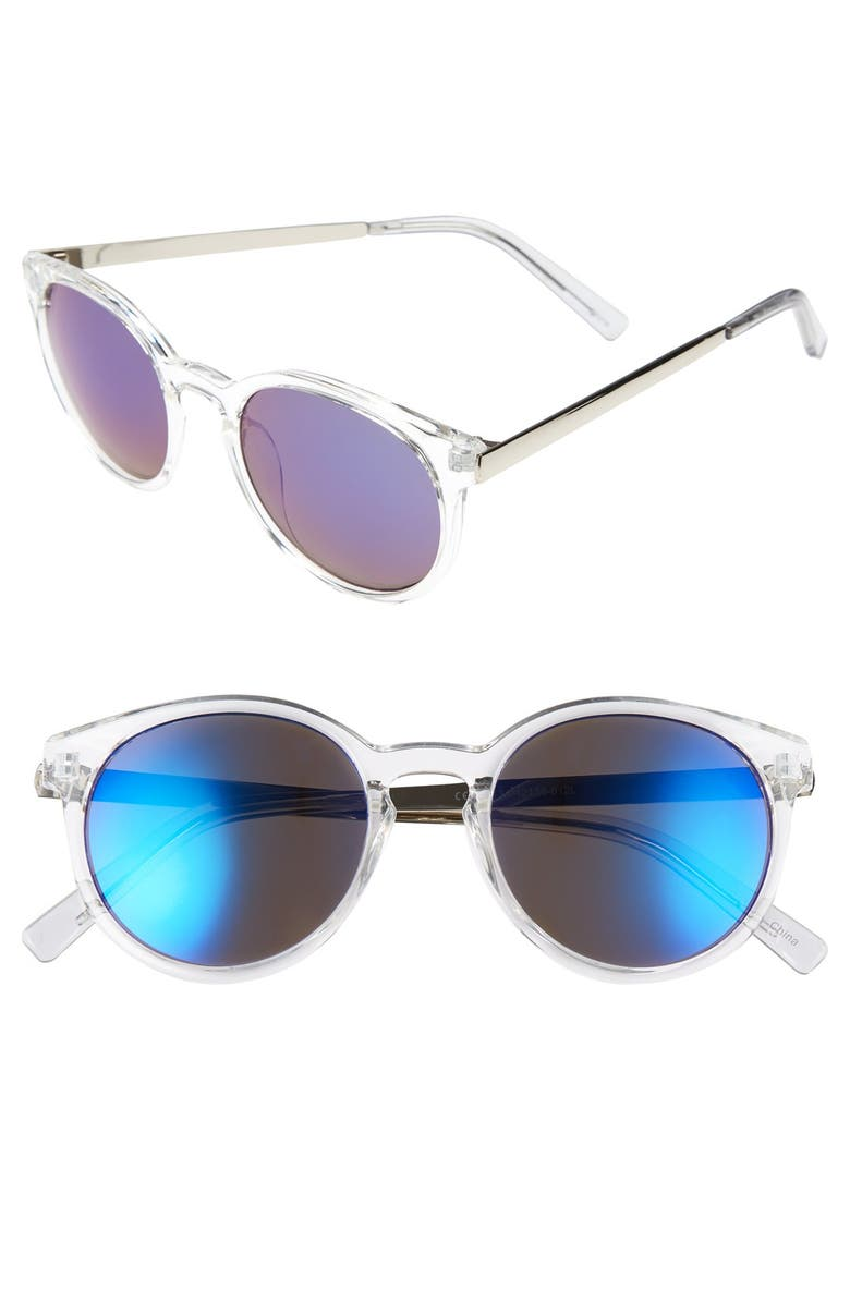 BP. 52mm Metal Arm Mirrored Sunglasses, Main, color, 401