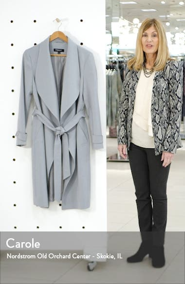 Drape Collar Wrap Coat, sales video thumbnail